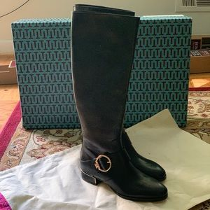 Tory Burch Leather Riding Boots Size 7.5